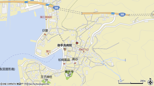 大分県佐伯市蒲江大字蒲江浦1929周辺の地図