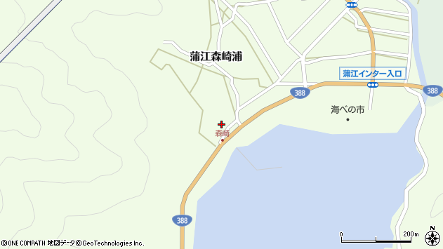 大分県佐伯市蒲江大字森崎浦1576周辺の地図