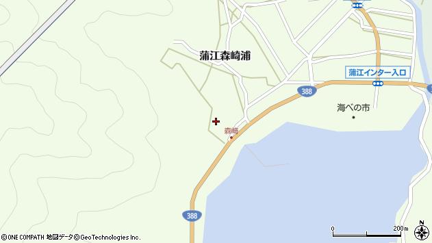 大分県佐伯市蒲江大字森崎浦1678周辺の地図