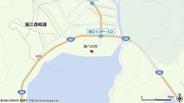 大分県佐伯市蒲江大字森崎浦142周辺の地図