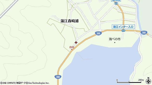 大分県佐伯市蒲江大字森崎浦1550周辺の地図