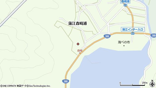 大分県佐伯市蒲江大字森崎浦1555周辺の地図
