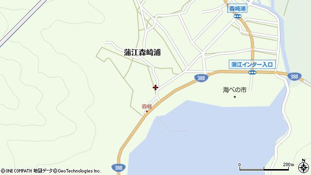 大分県佐伯市蒲江大字森崎浦1540周辺の地図