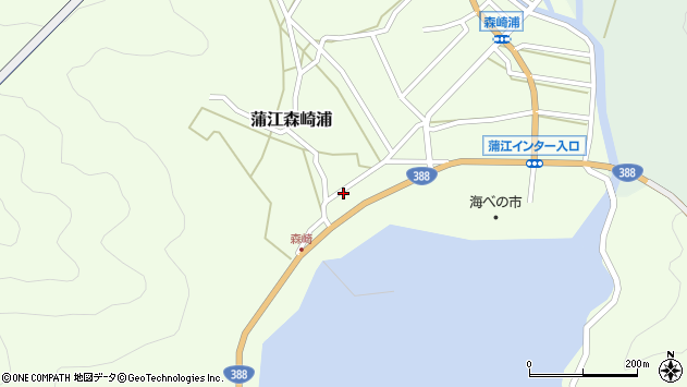 大分県佐伯市蒲江大字森崎浦周辺の地図