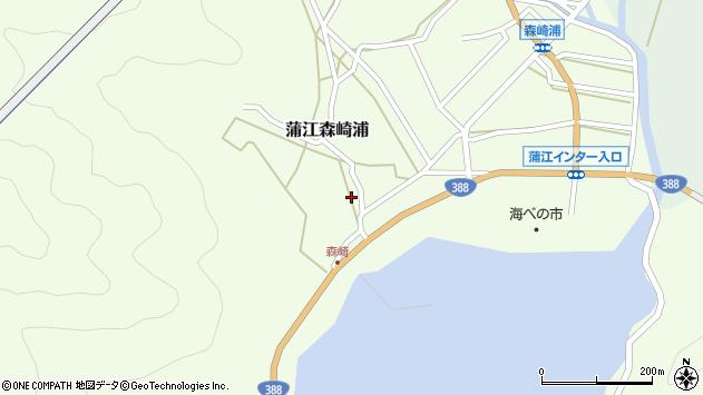 大分県佐伯市蒲江大字森崎浦1537周辺の地図