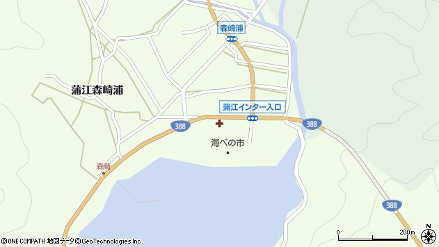 大分県佐伯市蒲江大字森崎浦145周辺の地図