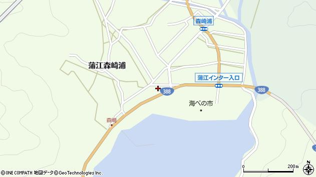 大分県佐伯市蒲江大字森崎浦1542周辺の地図