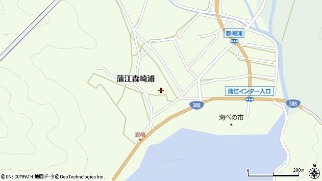 大分県佐伯市蒲江大字森崎浦1404周辺の地図