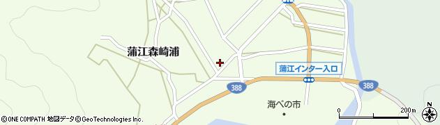 大分県佐伯市蒲江大字森崎浦1385周辺の地図