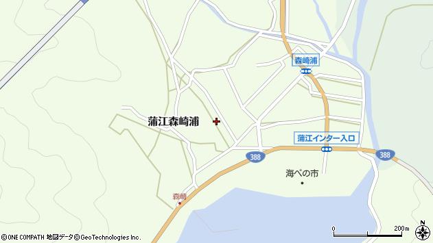 大分県佐伯市蒲江大字森崎浦1362周辺の地図