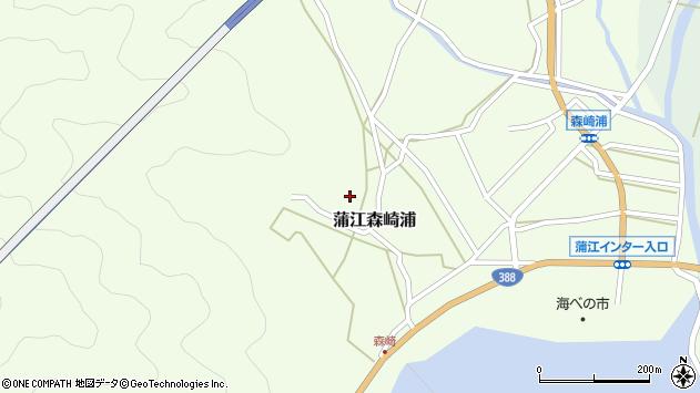 大分県佐伯市蒲江大字森崎浦1468周辺の地図