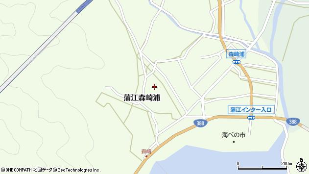 大分県佐伯市蒲江大字森崎浦1318周辺の地図