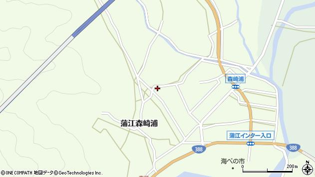 大分県佐伯市蒲江大字森崎浦303周辺の地図