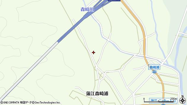 大分県佐伯市蒲江大字森崎浦1145周辺の地図