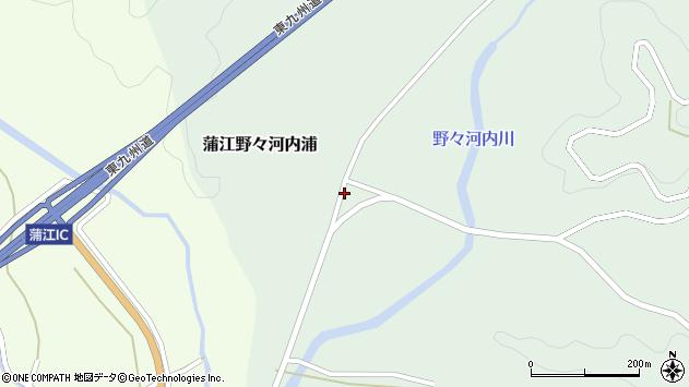 大分県佐伯市蒲江大字野々河内浦805周辺の地図
