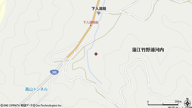 大分県佐伯市蒲江大字竹野浦河内614周辺の地図