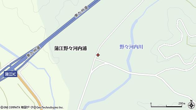 大分県佐伯市蒲江大字野々河内浦845周辺の地図