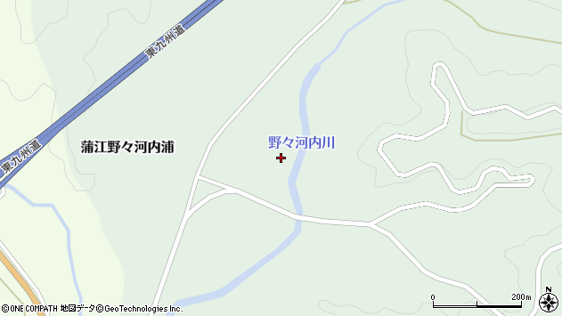大分県佐伯市蒲江大字野々河内浦882周辺の地図