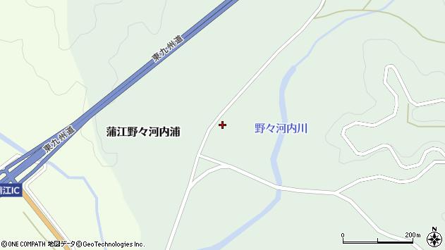 大分県佐伯市蒲江大字野々河内浦1346周辺の地図
