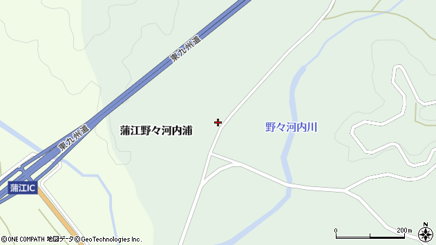 大分県佐伯市蒲江大字野々河内浦1354周辺の地図