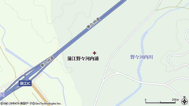 大分県佐伯市蒲江大字野々河内浦1305周辺の地図