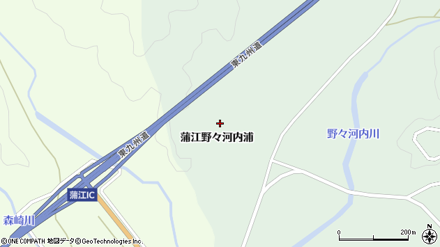 大分県佐伯市蒲江大字野々河内浦1291周辺の地図