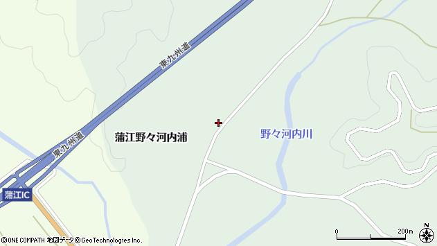 大分県佐伯市蒲江大字野々河内浦1351周辺の地図