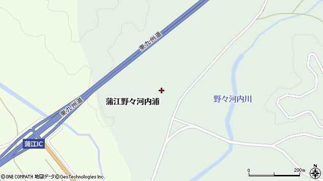 大分県佐伯市蒲江大字野々河内浦1321周辺の地図