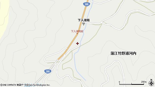 大分県佐伯市蒲江大字竹野浦河内387周辺の地図