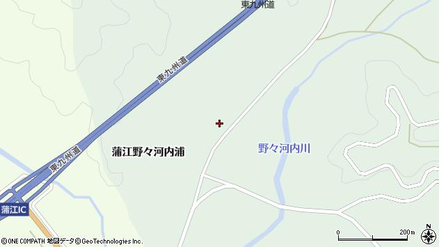 大分県佐伯市蒲江大字野々河内浦1495周辺の地図
