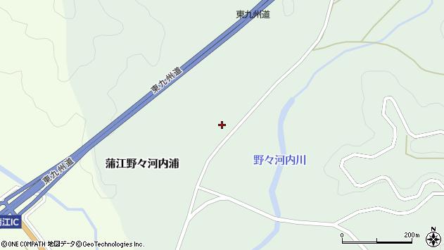大分県佐伯市蒲江大字野々河内浦1492周辺の地図