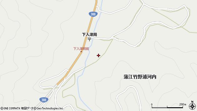 大分県佐伯市蒲江大字竹野浦河内654周辺の地図
