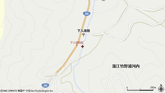 大分県佐伯市蒲江大字竹野浦河内385周辺の地図