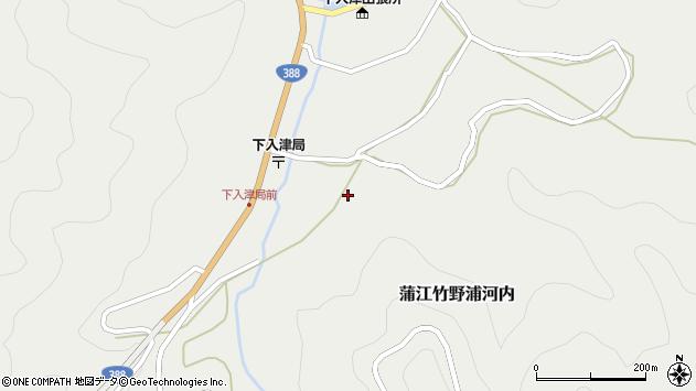 大分県佐伯市蒲江大字竹野浦河内692周辺の地図