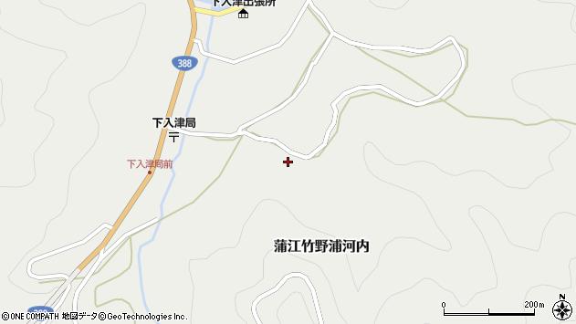 大分県佐伯市蒲江大字竹野浦河内713周辺の地図