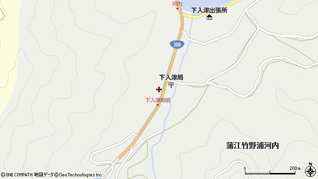 大分県佐伯市蒲江大字竹野浦河内376周辺の地図