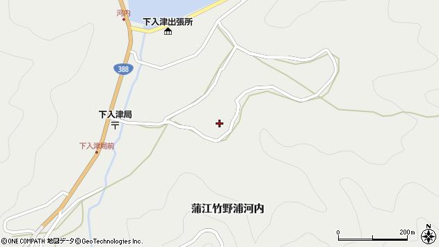 大分県佐伯市蒲江大字竹野浦河内748周辺の地図