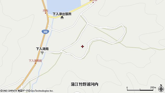 大分県佐伯市蒲江大字竹野浦河内746周辺の地図