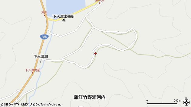 大分県佐伯市蒲江大字竹野浦河内865周辺の地図