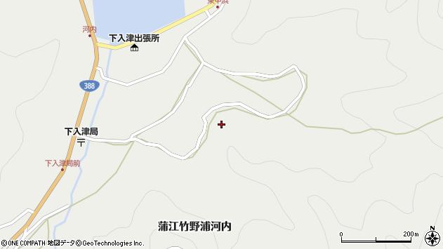 大分県佐伯市蒲江大字竹野浦河内1055周辺の地図