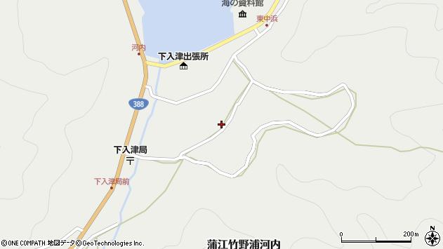 大分県佐伯市蒲江大字竹野浦河内877周辺の地図