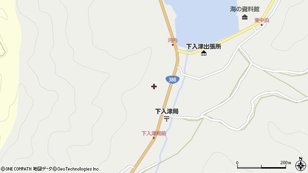 大分県佐伯市蒲江大字竹野浦河内318周辺の地図