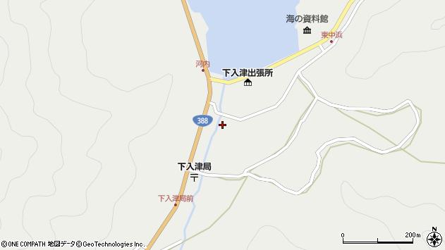 大分県佐伯市蒲江大字竹野浦河内293周辺の地図
