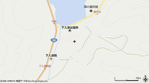 大分県佐伯市蒲江大字竹野浦河内930周辺の地図