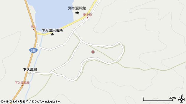 大分県佐伯市蒲江大字竹野浦河内1232周辺の地図