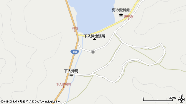 大分県佐伯市蒲江大字竹野浦河内1218周辺の地図