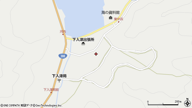 大分県佐伯市蒲江大字竹野浦河内934周辺の地図