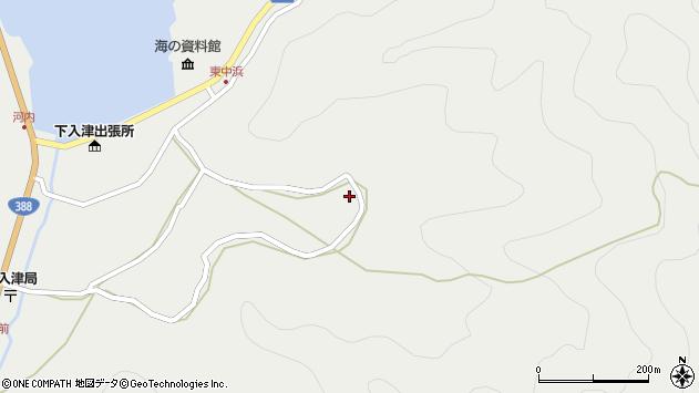大分県佐伯市蒲江大字竹野浦河内1260周辺の地図