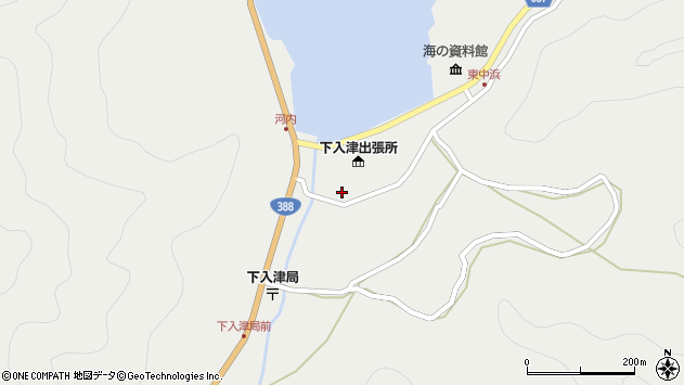 大分県佐伯市蒲江大字竹野浦河内909周辺の地図