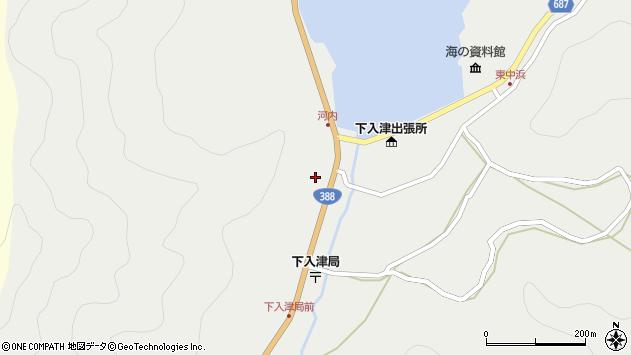 大分県佐伯市蒲江大字竹野浦河内285周辺の地図